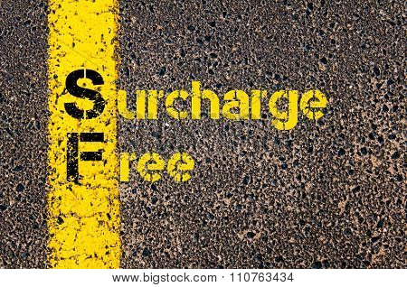 Accounting Business Acronym Sf Surcharge Free