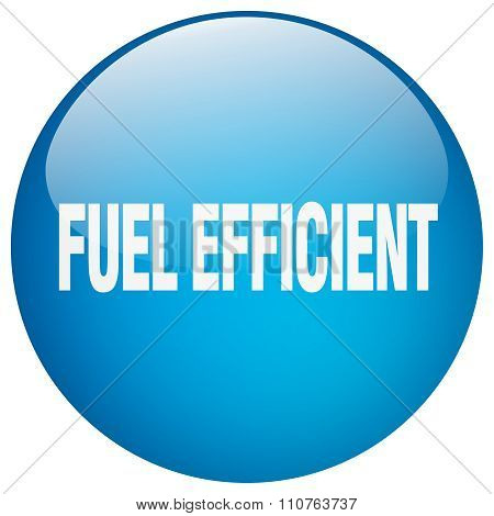 Fuel Efficient Blue Round Gel Isolated Push Button