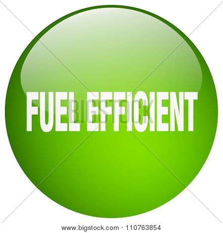 Fuel Efficient Green Round Gel Isolated Push Button