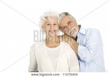 Porträt von ein glückliches paar der älteren Menschen