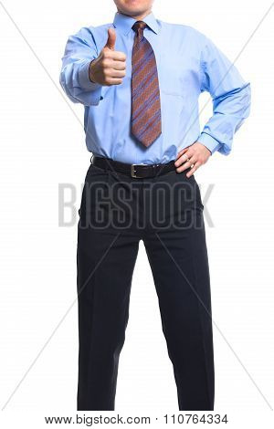 Successful Businessman Showing  Thumb Up
