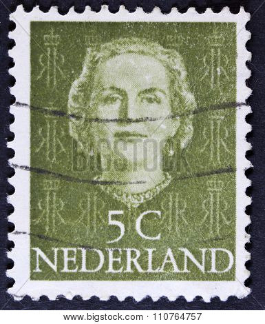 Former Queen on a postage stamp