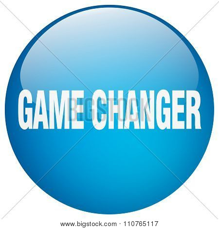 Game Changer Blue Round Gel Isolated Push Button