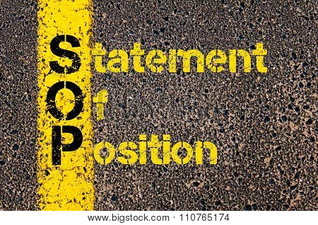 Accounting Business Acronym Sop Statement Of Position