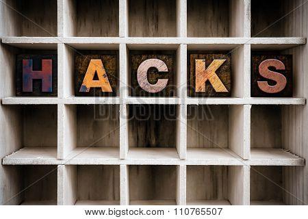 Hacks Concept Wooden Letterpress Type In Draw