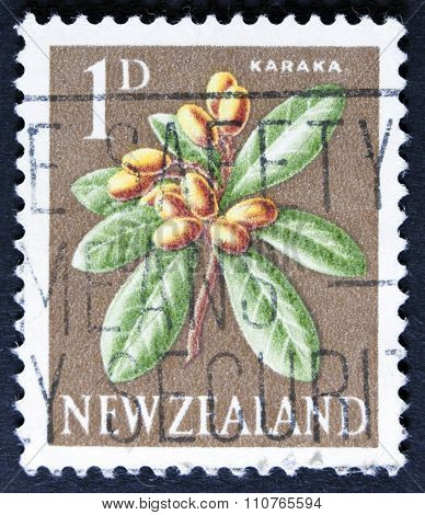 Flower on a postage stamp