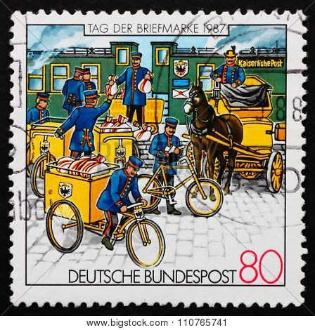 Postage Stamp Germany 1987 Postmen
