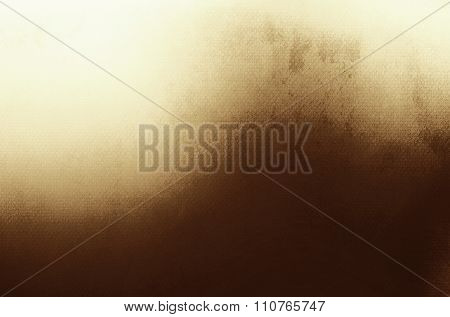 Abstract Gold Background, Old Gold Vignette Border Frame White Gray Background, Vintage Grunge Backg