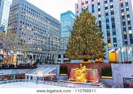 Rockefeller Center Scene