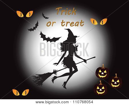 Happy halloween background with wich