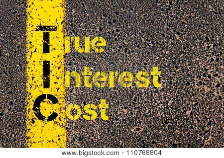 Accounting Business Acronym Tic True Interest Cost