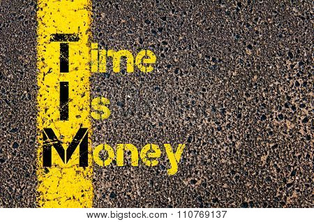 Accounting Business Acronym Tim Time Is Money