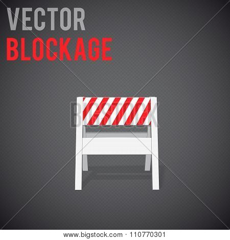 blockage. Restrictions road signs eps 10