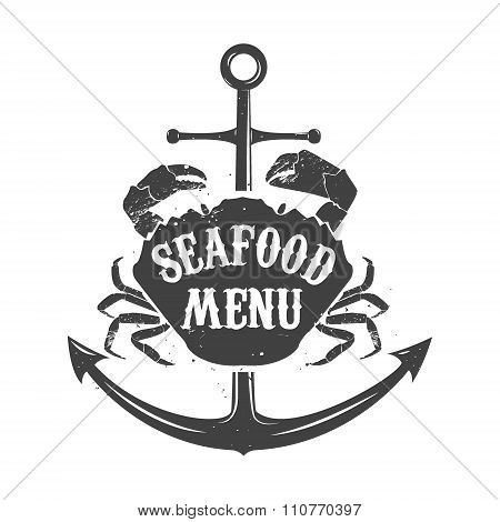 seafood meny label template.