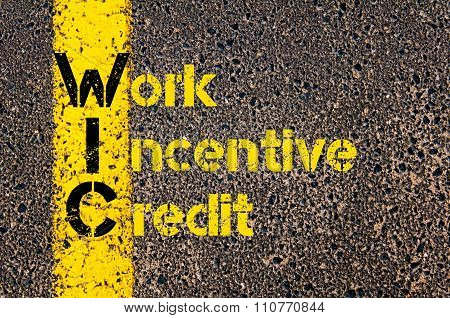 Accounting Business Acronym Win Work Incentive Credit