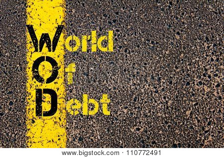 Accounting Business Acronym Wod World Of Debt