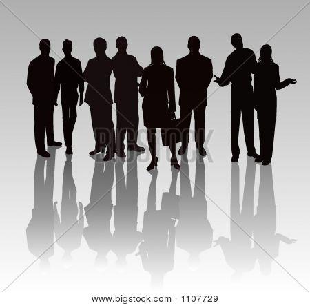 Business Team - Vector silhouetten