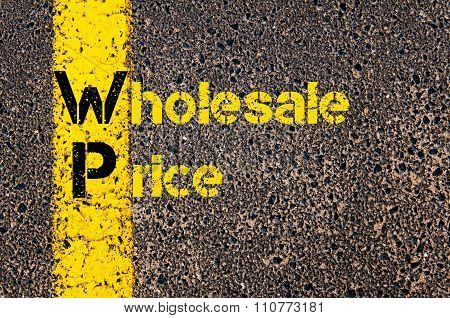 Accounting Business Acronym Wp Wholesale Price