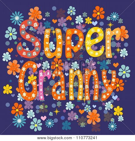 Super grandma. Vector