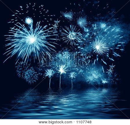 Night Blue Firework