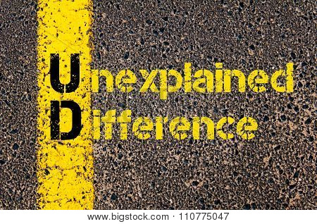 Accounting Business Acronym Ud Unexplained Difference