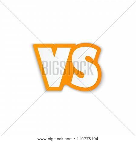 Versus Image. Vector Illustration