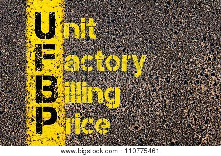 Accounting Business Acronym Ufbp Unit Factory Billing Price