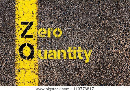 Accounting Business Acronym Zq Zero Quantity