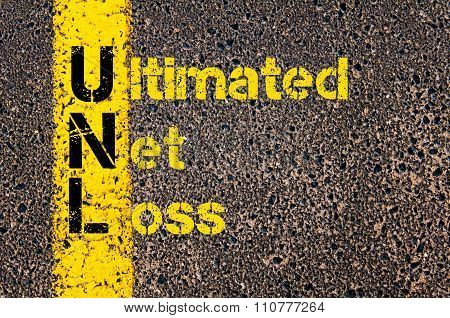 Accounting Business Acronym Unl Ultimated Net Loss