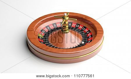 Roulette wheel on white background.Isolated