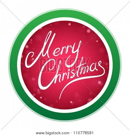 Abstract Merry Christmas Round Sign