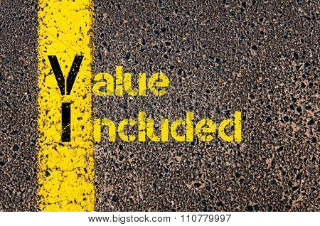 Accounting Business Acronym Vi Value Included