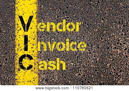 Accounting Business Acronym Vic Vendor Invoice Cash