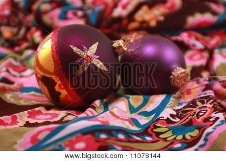 Purple Metallic Christmas Ornaments