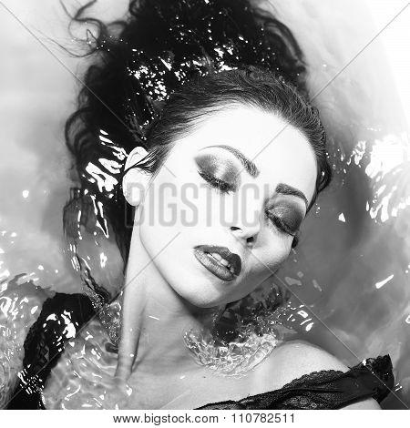 Woman Portrait In Bath Tab