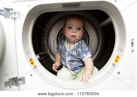 Serious Baby In The Dryer