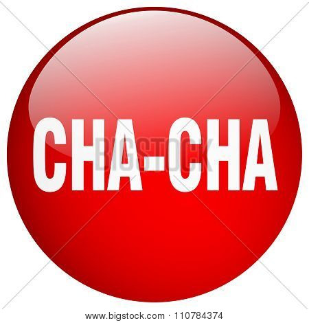 Cha-cha Red Round Gel Isolated Push Button