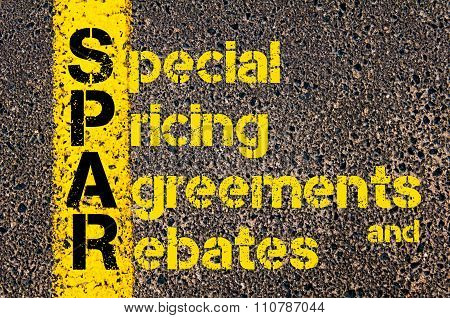 Accounting Business Acronym Spar Special Pricing Agreements And Rebates