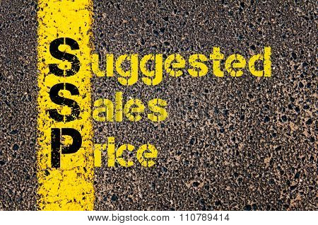 Accounting Business Acronym Ssp Suggested Sales Price