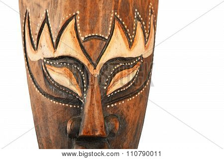 Asian Traditional Wooden Painted Brown Mask
