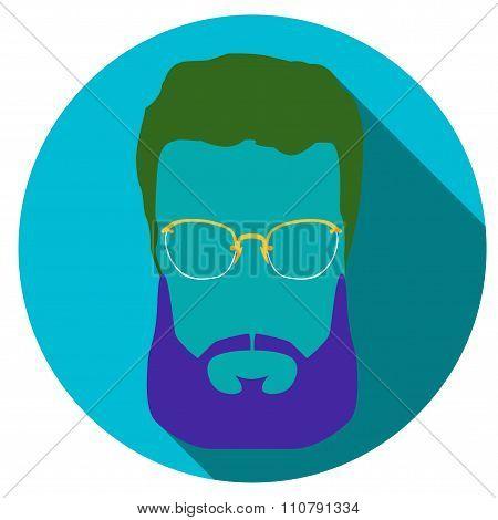 Super hero mask. Flat style avatar icon