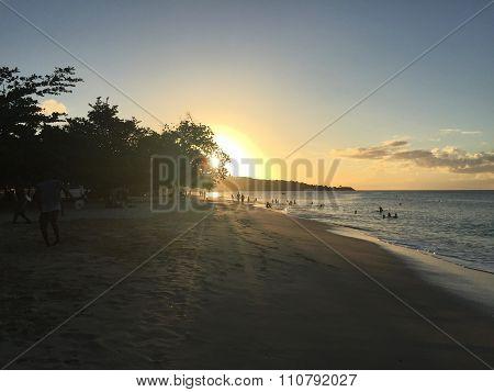 Tropical caribbean beach island