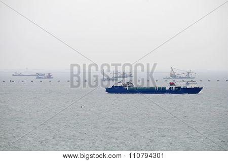 Ship In Kerch Strait