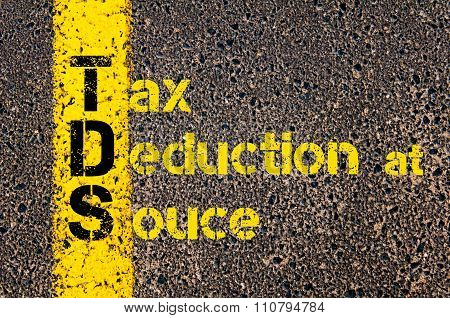 Accounting Business Acronym Tds Tax Deduction At Source