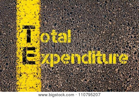 Accounting Business Acronym Te Total Expenditure