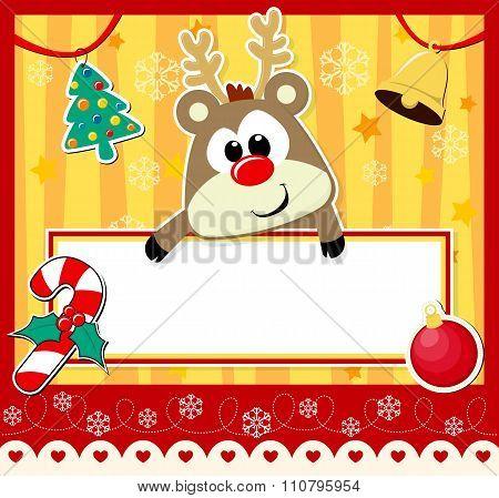 cute baby reindeer christmas card