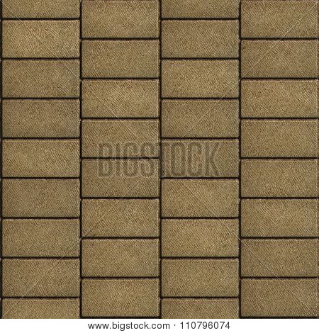 Sand Color Tiles in the Form of Rectangles Laid out Horizontally.
