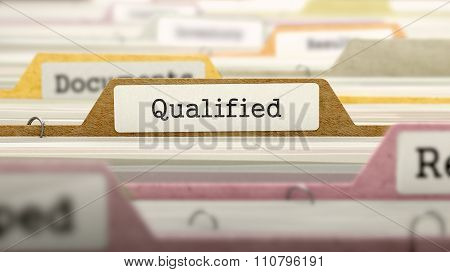 Qualified on Business Folder in Catalog.