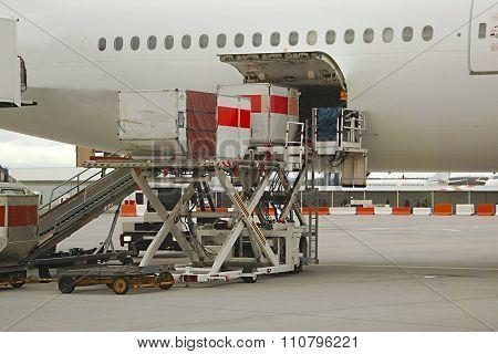 Loading Plane Cargo Hold