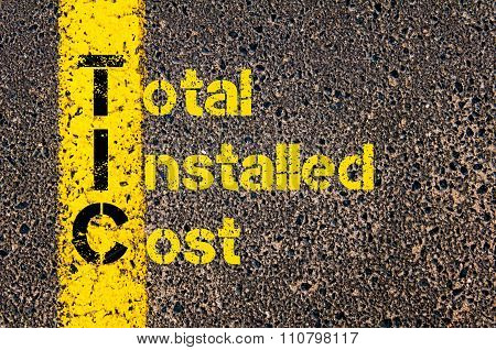 Accounting Business Acronym Tic Total Installed Cost